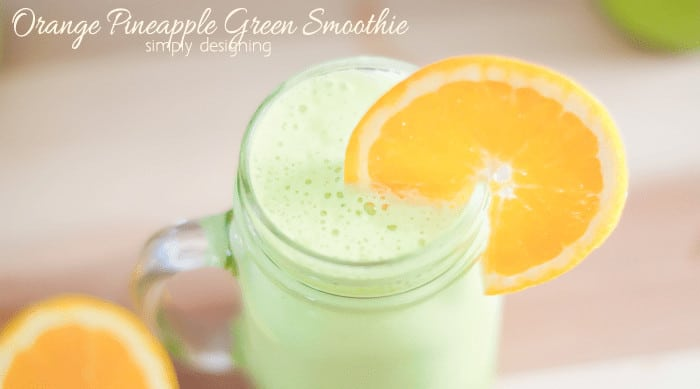 Orange Pineapple Green Smoothie Recipe featured image 25+ Pineapple Recipes for the Perfect Summer Treat 9 pineapple recipes