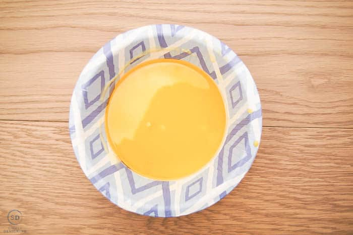 melted beeswax in a bowl