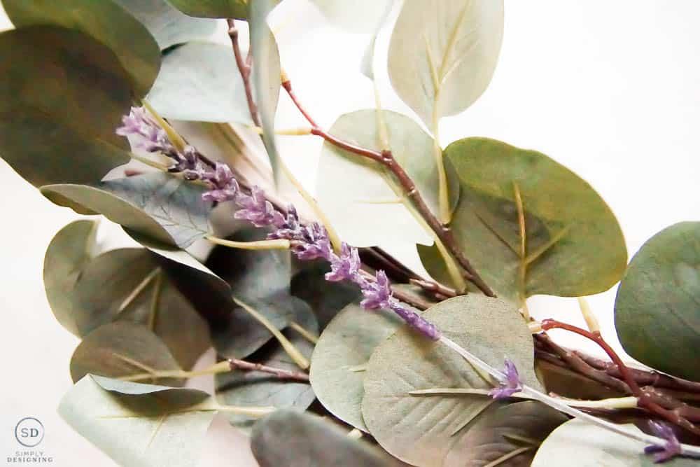 add lavender to hoop wreath