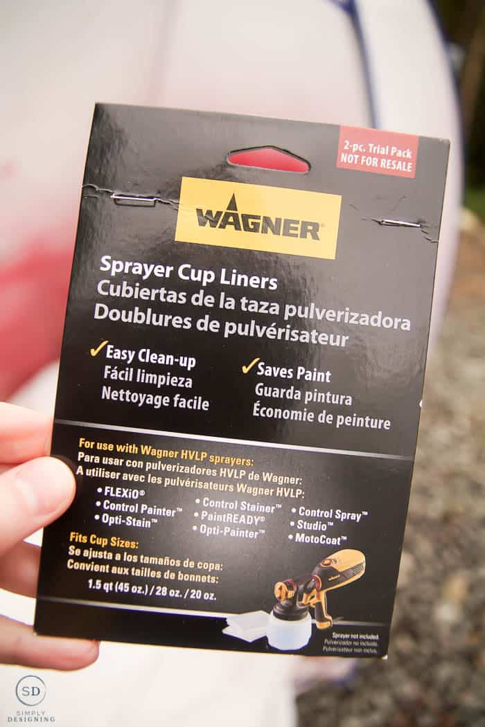 spray cup liner package