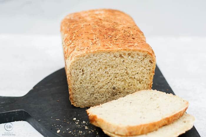 easy parmesan herb artisan bread