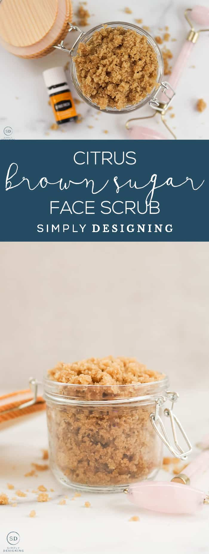 This citrus brown sugar face scrub is a natural way to exfoliate your skin from the comfort of your own home