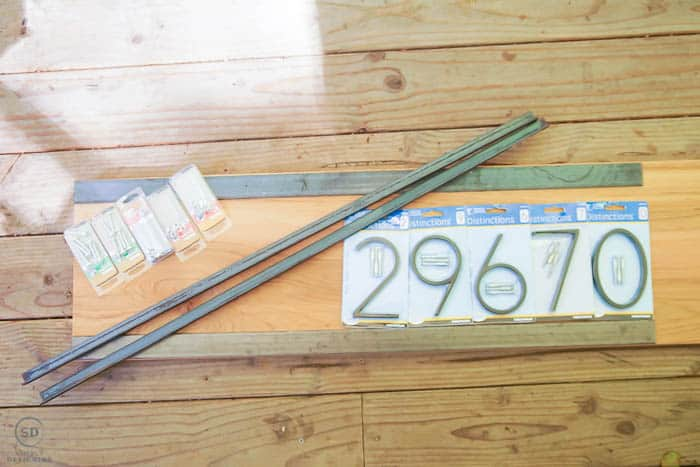 some supplies to make a house number sign