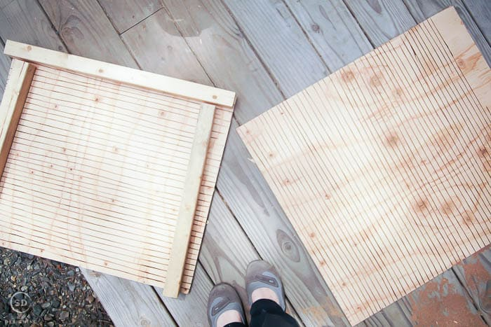 plywood with grooves on it for bat house