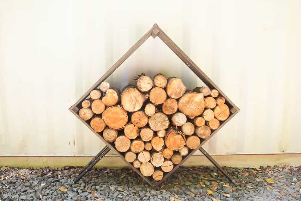 square firewood holder