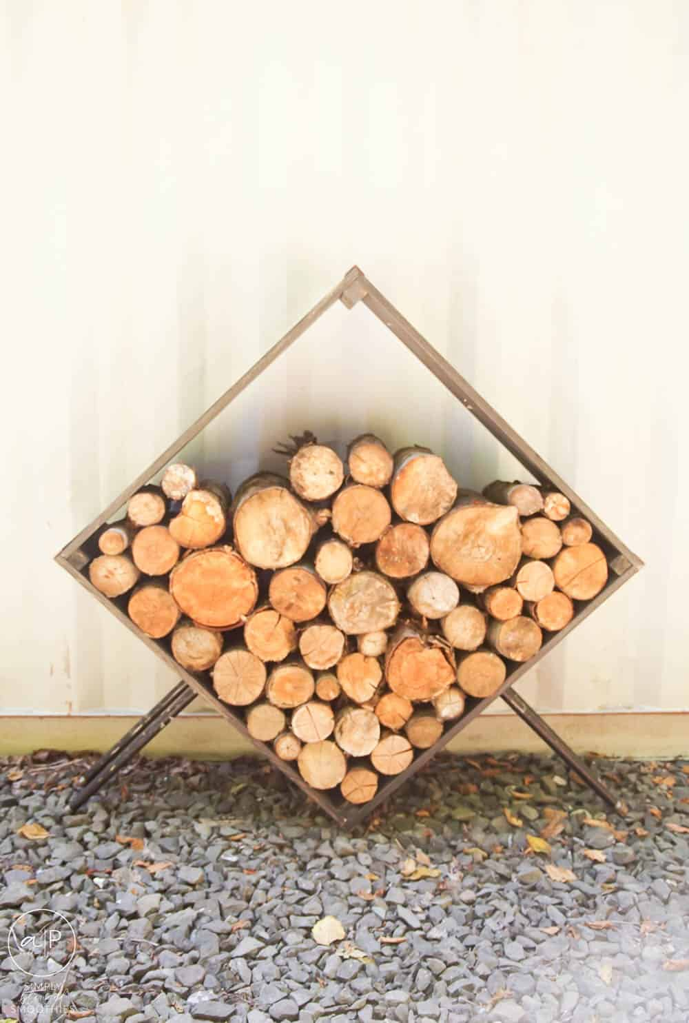 how to make a firewood holder