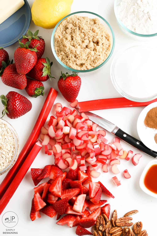 chop rhubarb